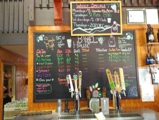 Arrington, VA: The list of beers available changes frequently.