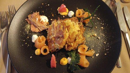Rates Varti: Potato rosti with salmon