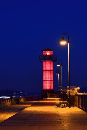 Takamatsuko Tamamo Breakwater Light: ガラスの灯台