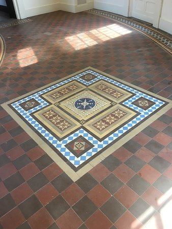 Richardson Olmsted Campus: Mosaic tile floor