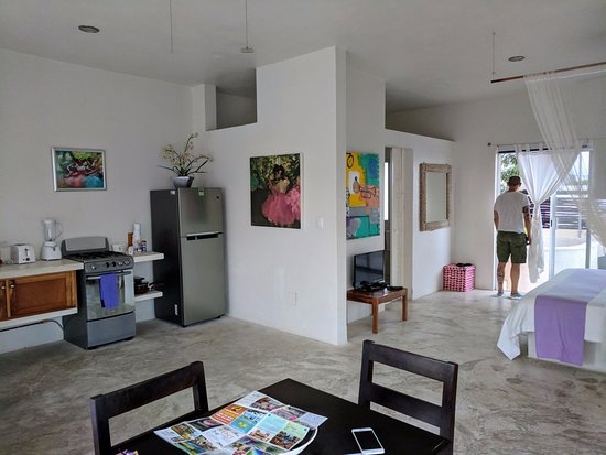 Villas Geminis Boutique Condo Hotel Dining Room And Living Are In An Open Space