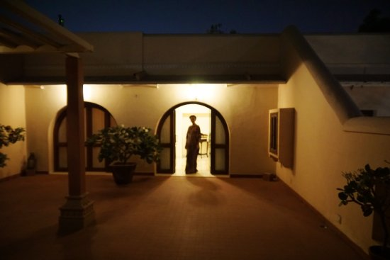 Royal Heritage Haveli: Private entrance courtyard to our suite