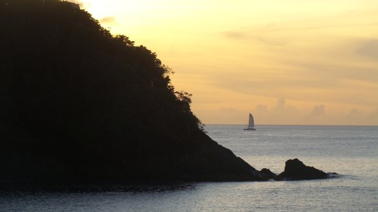 Cap Estate, Saint Lucia: Sunset view from our room