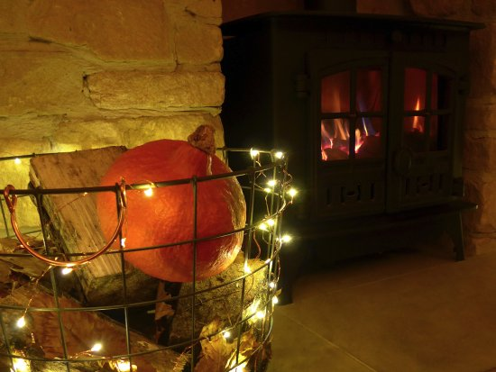 Hooked Restaurant: Come and dine by the fireside.