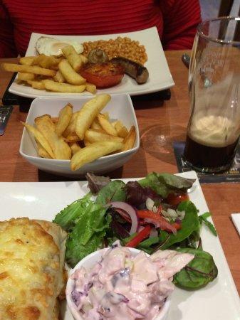 Ripley, UK: 2 fir £11 menu items plus side order of chips
