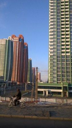 Dandong, China: The streets of Pyongyang