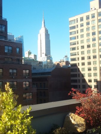 The Marcel at Gramercy: Awesome view of Empire state building from sitting, sunning or smoking area on 10th fl.roof.
