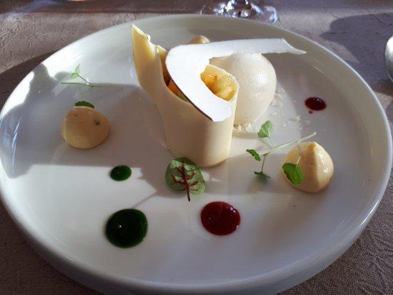 Sorgues, França: Dessert exotique à la vanille de Guadeloupe