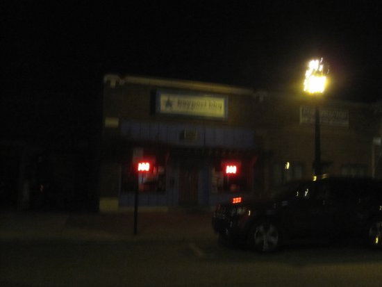 Bayport, MN: Front of building at night