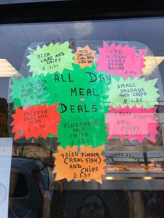Wellingborough, UK: Meal Deals
