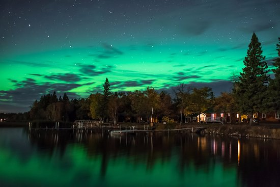 Park Rapids, MN: Occasionally we get the chance to see the amazing Northern Lights
