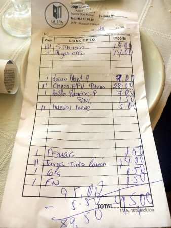 Alcaucin, Ισπανία: Cuenta