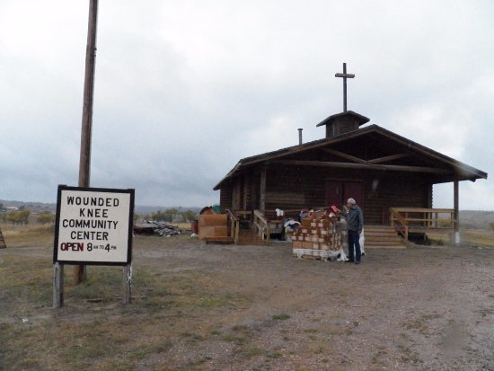 Kyle, SD: Community Center located next to the Wounded Knee Cemetery.