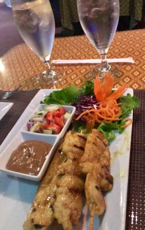‪‪Canton‬, جورجيا: Chicken satay with peanut dipping sauce‬
