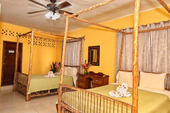 Rainforest Haven Inn: Room 3: comes with 2 queen beds, mini fridge, cable TV, WiFi, cell phone, private hot & cold bat