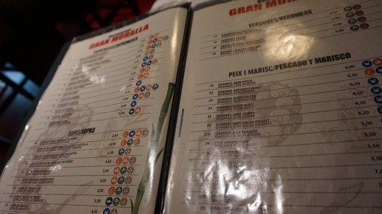 Carta Picture Of Restaurante Chino Gran Muralla 2 Girona Tripadvisor