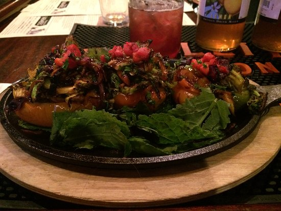Carlisle, PA: Piping hot skillet with peppers stuffed w/ an array of mushrooms & other vegetables! Delicious!
