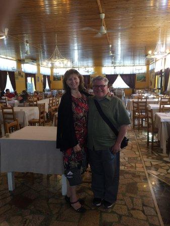 Aim Limo Rome Tours : Val and Jim at Ristorante Da Giotto in Amaseno, Italy