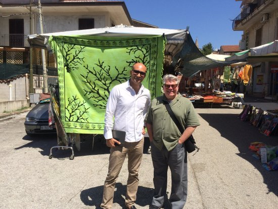 Aim Limo Rome Tours : Alessandro, our fantastic driver and guide and Jim in Amaseno, Italy