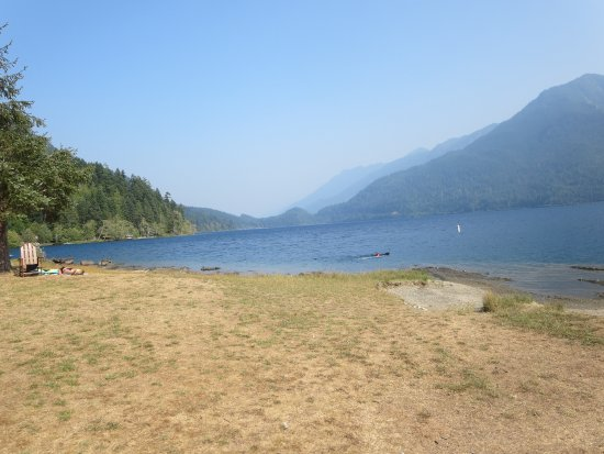 Gorgeous lake crescent this would be the 39 beach for Log cabin resort lago crescent wa