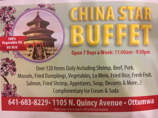 Ottumwa, IA: China Star Buffet