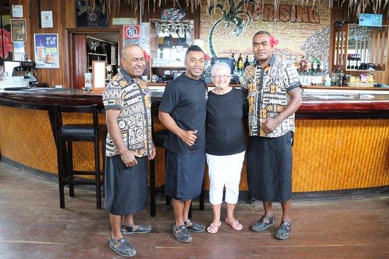 Uprising Beach Resort: A few of the great staff.