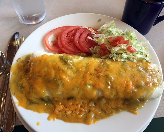 Algodones, NM: Breakfast Burrito with Tomatoes