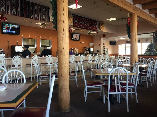 Algodones, NM: Early Morning inside the Pueblo Restaurant