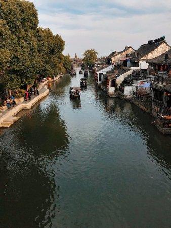 Jiashan County, Kina: 船遊西塘