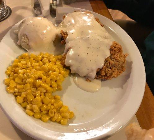 La Junta, CO: LARGE portion of DELICIOUS Chicken Fried Steak!