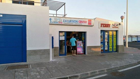 Excursion Center: Die Filiale am Hafen in Corralejo