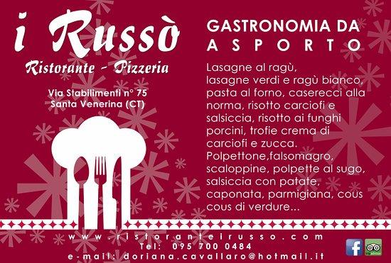 Santa Venerina, Ιταλία: Gastronomia da asporto