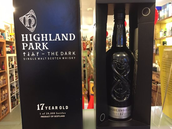 Kirkwall, UK: Limited edition Highland Park Dark, found in Kirkness & Gorie, December 2017.