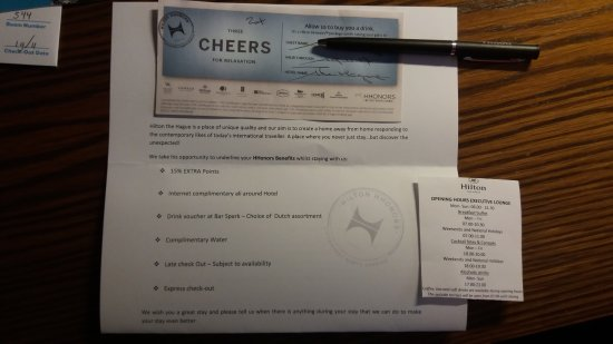 Hilton The Hague: voucher for sparks bar