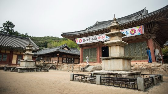 Suncheon, Sør-Korea: 수계가 있어서 그랬던 걸까, 어딜가든 승려분들이 바쁘게 움직이고 있다.