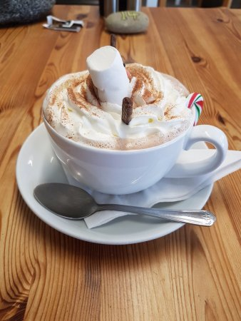 Cresswell, UK: Special hot chocolate
