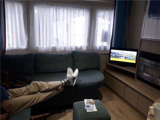 Flookburgh, UK: Inside our caravan - all have Smart TV's