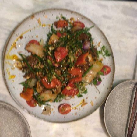 Anan Saigon: Shaking beef and crab rice - top notch!