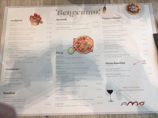 Zaventem, Belgique : Carta del restaurante