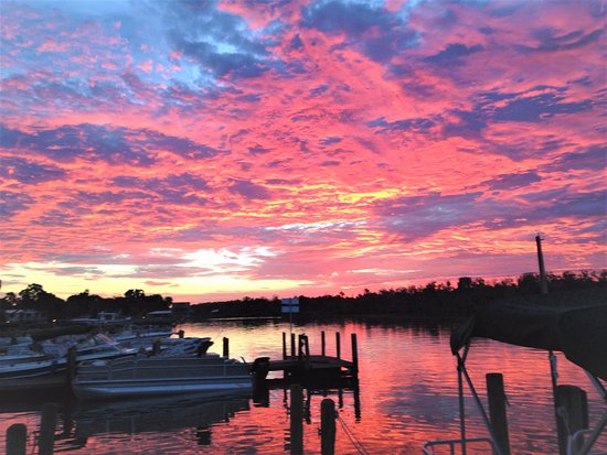 Homosassa, FL: A gorgeous sunrise at the marina in December, get ready for manatees