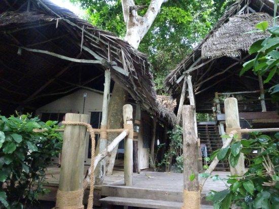 Fundu Lagoon: tente et espace privé