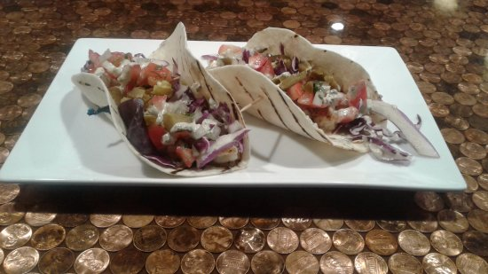 Morganton, Carolina do Norte: Blackened shrimp tacos