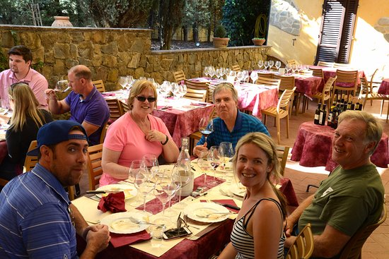 Fun in Tuscany: This stop included an amazing lunch and wine tasting including a wonderful brunello.
