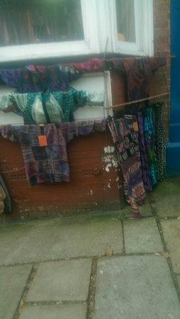 Outside Ashbourne shop