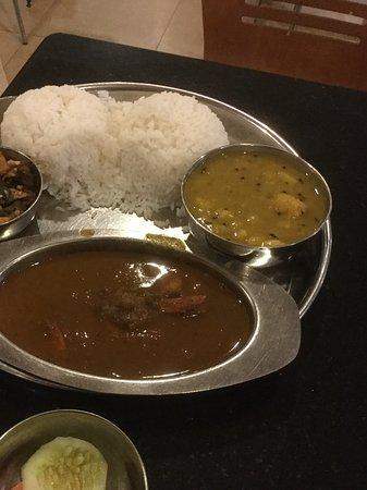 Dalma: Odhishi prawn Thai plate Interesting. Get add on side dishes