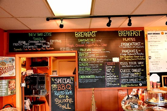 Coffee Break Cafe: Today's breakfast options the the special