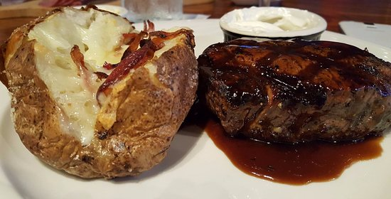 Perrysburg, OH: Stella's juicy center-cut mignon with a loaded baked potato!
