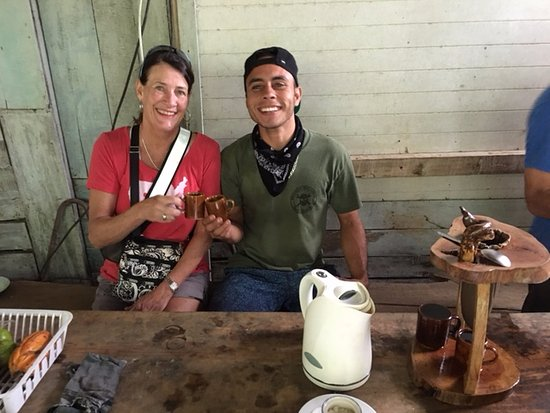 Uvita, Costa Rica: Tasting the home grown and roasted coffee