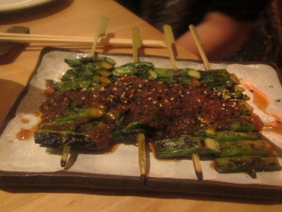 Roka Akor | San Francisco: grill cooked Asparagus with Wafu Dressing and Sesame