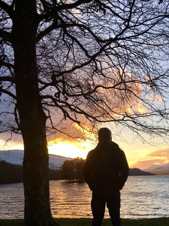Walking into kenmore loch Tay